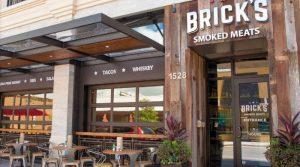 Bricks restaurant and bar front entrance