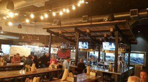 Bricks bar area