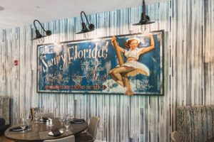 Sunny Florida sign in the Summer House restaurant
